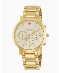 kate spade new york - Metallic Gramercy Grand Chronograph - Lyst