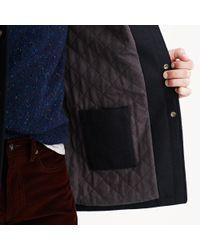 J.Crew - Blue Hooded Coach's Jacket In Wool for Men - Lyst