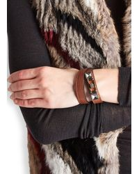 Proenza Schouler | Ps11 Brown Leather Bracelet | Lyst