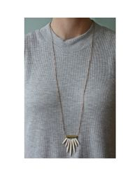 Spectrum | White Spike Necklace | Lyst