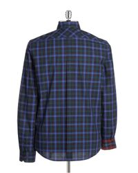 Ben Sherman | Blue Plaid Sportshirt for Men | Lyst