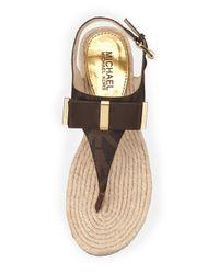 MICHAEL Michael Kors | Brown Meg Bow Sandals | Lyst