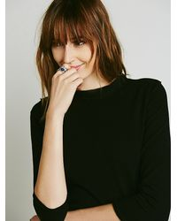 Free People | Black Audrey Tee | Lyst