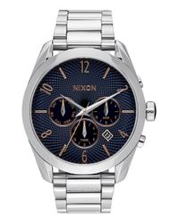 Nixon - Metallic 'bullet' Medium Chronograph Bracelet Watch - Lyst