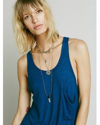 Free People | Blue We The Free Womens We The Free Hot Pocket Tank | Lyst