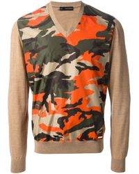 DSquared² | Brown Camouflage Print Sweater for Men | Lyst