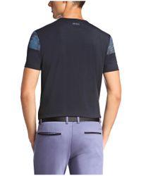 BOSS Green - Blue T-shirt: 'tee 6' In Cotton Blend for Men - Lyst