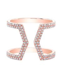 Anne Sisteron - Pink 14kt Rose Gold Diamond Cinder Ring - Lyst