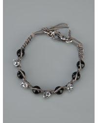Emanuele Bicocchi - Metallic Skull Bead Bracelet - Lyst