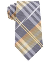 Geoffrey Beene | Yellow Petros Plaid Ii Extra Long Tie for Men | Lyst