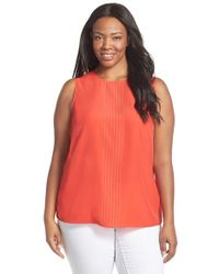 MICHAEL Michael Kors | Orange Studded Sleeveless Top | Lyst