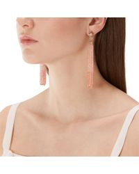 Coast - Blush Pink Flo Tassel Earrings - Lyst