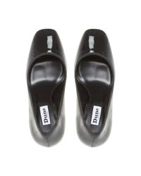 Dune - Black 'alanaa' Square Toe Court Shoes - Lyst