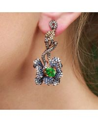 Wendy Yue | Multicolor Flower Earrings With Tsavorite | Lyst