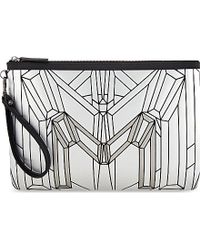 MCM | Metallic Bionic Zipped Medium Pouch for Men | Lyst