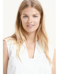 Violeta by Mango - White Metal Appliqué Blouse - Lyst