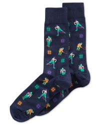 Hot Sox | Blue Hockey Crew Socks for Men | Lyst
