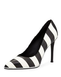 Givenchy - Black Striped Leather Pump - Lyst