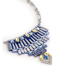 Iosselliani - Metallic Crystal Plastron Necklace - Lyst