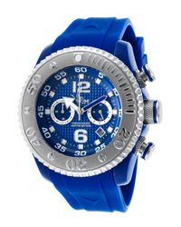 VIP Time | Men's Magnum Chrono Blue Rubber Blue-tone Dial for Men | Lyst