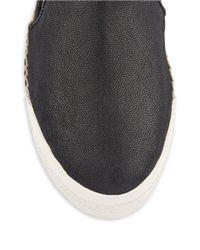 Nine West | Black Oranges Slip-On Leather Sneakers | Lyst