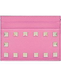 Valentino | Pink Studded Card Holder | Lyst
