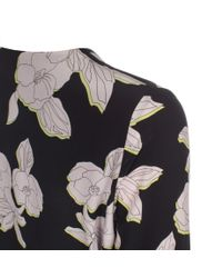 Paul Smith - Multicolor Women'S 'Miami Beach Floral' Long-Sleeved Silk Dress - Lyst