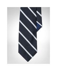 Polo Ralph Lauren | Black English Repp Stripe Tie for Men | Lyst
