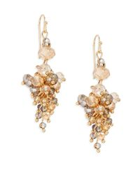 Saks Fifth Avenue | Metallic Beaded Cluster Drop Earrings | Lyst