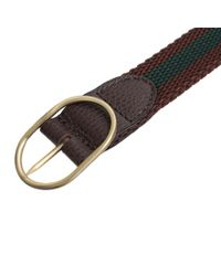 Dell'Oglio - Brown And Green Nylon Belt for Men - Lyst