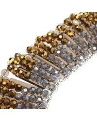 Night Market - Metallic Fringed Bead Necklace - Lyst