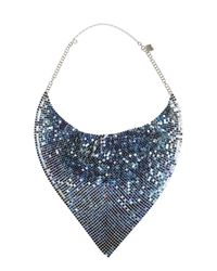 Paco Rabanne | Blue And Azure Metal Mesh Necklace | Lyst