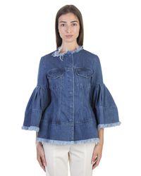 Marques'Almeida - Blue Cotton Flared Sleeve Denim Jacket - Lyst