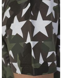 Valentino - Cotton Camustar T-shirt With White Stars for Men - Lyst