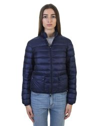 Moncler | Navy Blue Nylon Padded Quilted Jacket | Lyst