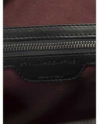 Stella McCartney - Black Snakeskin Effect Mini Falabella Bag - Lyst