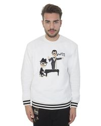 Dolce & Gabbana - White Sweatshirt With Jazz Embroidery for Men - Lyst