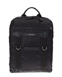 Dolce & Gabbana | Black Nylon And Leather Mediterraneo Backpack for Men | Lyst