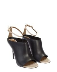 Givenchy - Black And Nude Leather Mule Shoes - Lyst