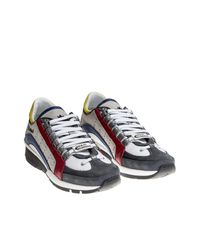 DSquared² - Multicolor Leather And Nylon Sneakers for Men - Lyst