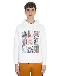KENZO - Printed White Cotton Hood Sweatshirt for Men - Lyst