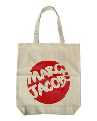 Marc Jacobs | Red Canvas Logo Print Tote | Lyst