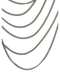 Rosantica - Metallic Gold And Grey Long Chain Necklace - Lyst
