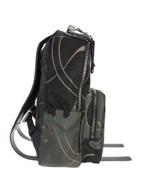 Valentino - Panther Printed Bleck Ang Green Nylon Backpack for Men - Lyst