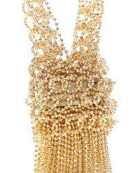 Rosantica - Metallic Brass Hanging Tassel Necklace - Lyst