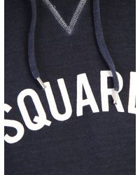 DSquared² - Blue Logo Printed Cotton Sweatshirt for Men - Lyst