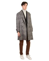 Dell'Oglio - Gray Blend Wool And Cotton Coat for Men - Lyst