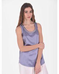 Brunello Cucinelli - Multicolor Silk Blouse - Lyst