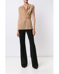 Derek Lam - Brown Asymmetrical Drape Sweater - Lyst