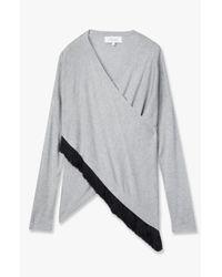 Derek Lam - Gray Cross Front Sweater - Lyst
